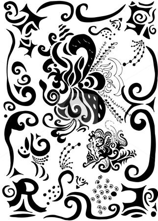 Swirls and scrolls background stock photo, Gothic swirls and scrolls background with word trust by Vanessa Van Rensburg