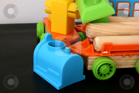 Building Blocks stock photo, Childrens Building blocks made from wood and plastic by Vanessa Van Rensburg