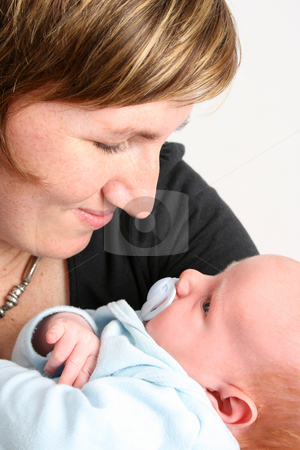 Mother and Son stock photo, Loving mother holding her new baby boy by Vanessa Van Rensburg