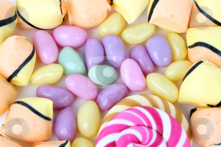 Candy stock photo, Variety of candies in different colours and shapes by Vanessa Van Rensburg