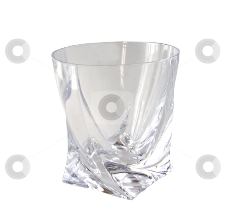 Glass with clipping path stock photo, Isolated empty glass on white background with clipping path by Fabio Alcini