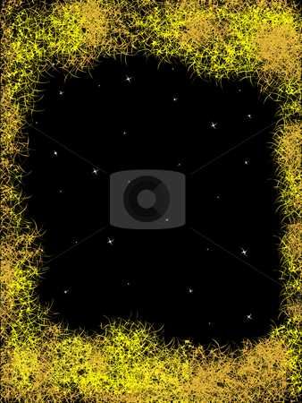 Abstraction framework stock photo, Abstract framework on a background night sky by Alina Starchenko