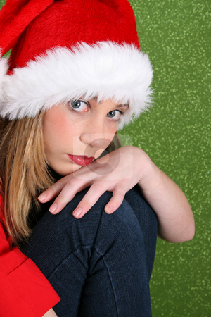 Christmas Teen stock photo, Christmas teen with a more serious expression by Vanessa Van Rensburg