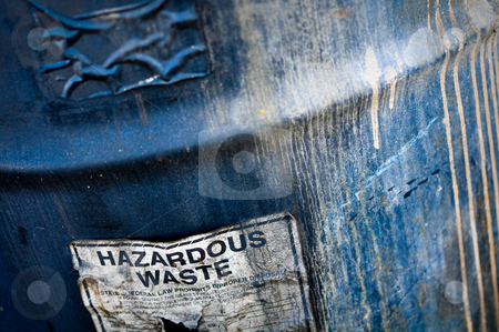 Hazardous Waste stock photo, Hazardous and Toxic Waste Barrels storing pollution by Brandon Bourdages