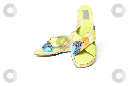 Female sandals stock photo, Womens comfortable summer sandals by Leah-Anne Thompson