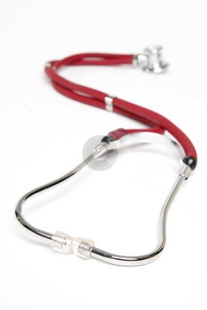 Medical Sprague Stethoscope stock photo, The most widely used stethoscope in the healthcare industry, the sprague stethoscope has a threaded chestpiece which allows the use of 5 interchangeable chestpiece fittings. by Leah-Anne Thompson