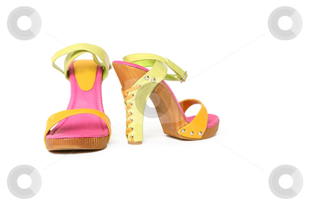 Platform shoes stock photo, Womens platform sandals by Leah-Anne Thompson