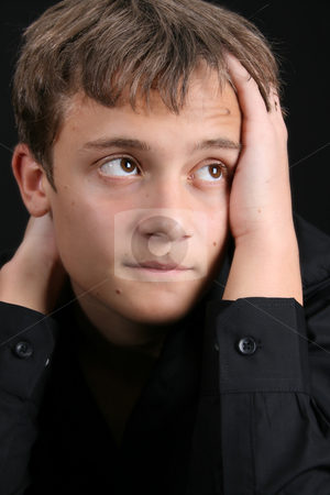 Casual Teen stock photo, Teenage male in casual attire looking into the distance by Vanessa Van Rensburg