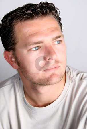 Casual Male stock photo, Casual male against a light studio background by Vanessa Van Rensburg