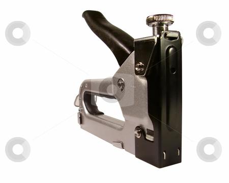 Steel stapler isolated on white stock photo, Steel stapler isolated on white by Sergey Gorodenskiy