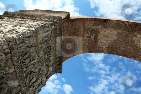 Arch of Galerius  stock photo, Arch of Galerius in Thessaloniki by Portokalis
