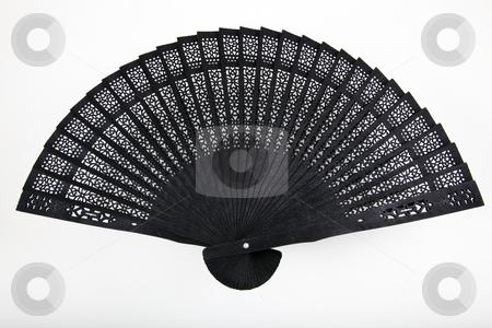 Black Fan  stock photo, Black Fan by Portokalis