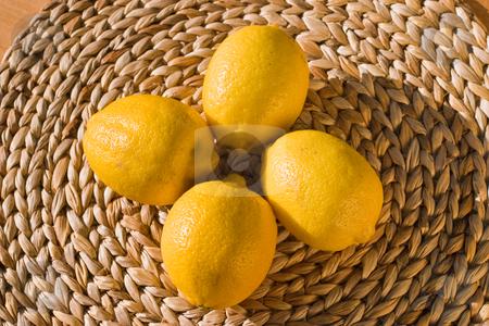 Lemon stock photo, Food series: close up of ripe yellow lemon by Gennady Kravetsky