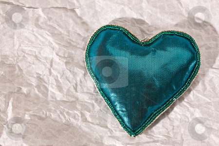 Christmas heart stock photo, Holiday series:  Christmas heart on papery background by Gennady Kravetsky