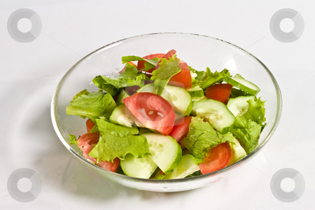 Salad stock photo, Food series: healthy tomato and cucumber salad by Gennady Kravetsky