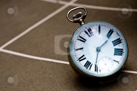 Old clock stock photo, Objects series: round old clock, macro picture by Gennady Kravetsky