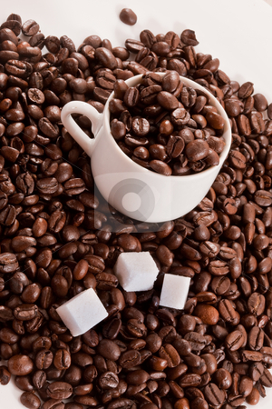 Coffee stock photo, Food series: tasty coffee hill with cup by Gennady Kravetsky