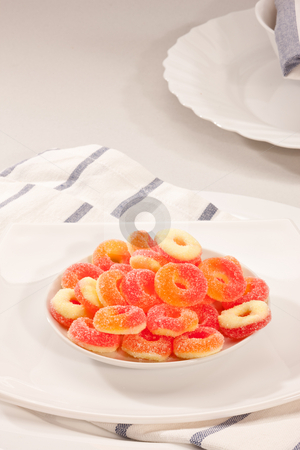 Candy stock photo, Food series: sweet, tasty fruit jelly candy by Gennady Kravetsky