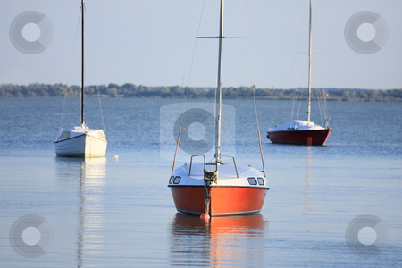 Harmony stock photo, The sailboats is waiting in evening stillness by ARPAD RADOCZY