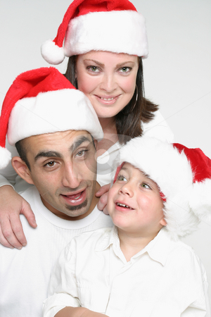 Family Christmas stock photo, Family at Christmas by Leah-Anne Thompson