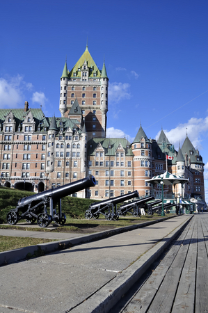 Chateau Frontenac stock photo, Castle: View of the Chateau Frontenac in Quebec City, Canada by Fernando Barozza