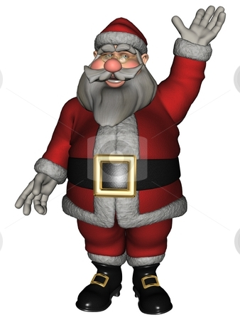 Santa Claus stock photo, 3D rendered Santa Claus on white background isolated by Patrik Ruzic