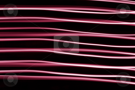 Wavy red LED light lines abstract. stock photo, Wavy red LED light lines abstract. by Stephen Rees