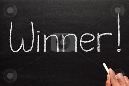 Winner, written on a blackboard. stock photo, Winner, written on a blackboard. by Stephen Rees