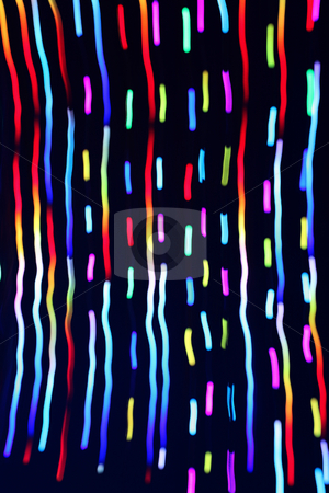 Christmas lights colorful abstract blur trails. stock photo, Christmas lights colorful abstract blur trails. by Stephen Rees