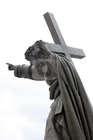Jesus with Cross stock photo,  by Stanislovas Kairys
