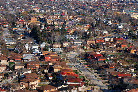 Urban Landscape stock photo, Aerial view of an urban neighborhood by Tim Elliott