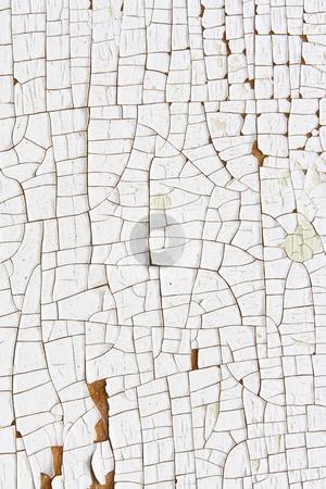 Cracked And Peeling White Paint 1 stock photo, Close up of cracked and peeling white paint by Mark Carrel