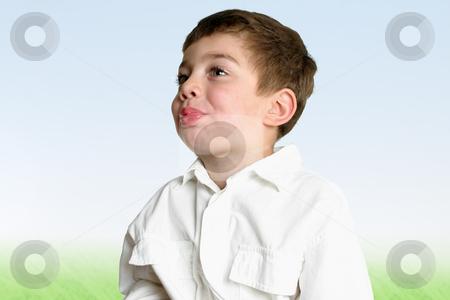 Childhood development - blowing raspberries stock photo, Toddler blowing raspberries by Leah-Anne Thompson