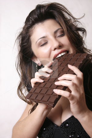 Chocoholic stock photo, Chocolate cravings by Leah-Anne Thompson