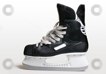 Ice skate boot stock photo, Ice skate on a white background by Leah-Anne Thompson