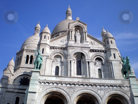 Sacre Coeur in Paris stock photo,  by Giancarlo Liguori