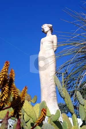 Famous exotic garden in Eze, France stock photo,  by Giancarlo Liguori