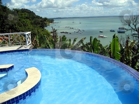 Wonderful hotel view in Olinda, Brazil stock photo,  by Giancarlo Liguori