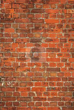 Colorful old British red brick wall background. stock photo, Colorful old British red brick wall background. by Stephen Rees