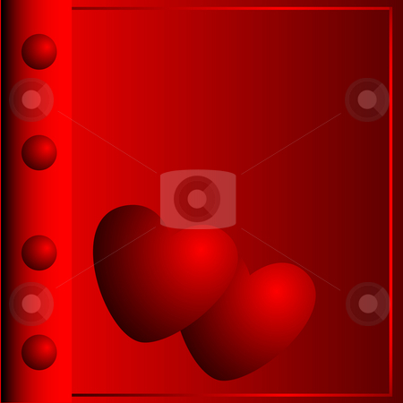 Photograph album and two hearts stock photo, Photograph album with the image of two hearts made in red colour by Alina Starchenko