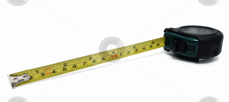 Ruler stock photo, Ruler building on a white background by Nataliya Taratunina