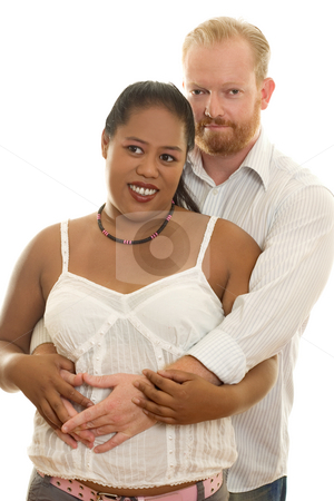 Couple Diversity stock photo, Couple diversity, man and woman in casual clothes by Leah-Anne Thompson