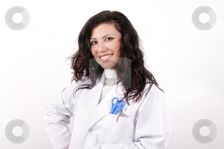 Smiling Nurse  stock photo, Smiling Nurse or Doctor by Leah-Anne Thompson