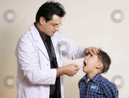 Assessment stock photo, Doctor assessing a young patient by Leah-Anne Thompson