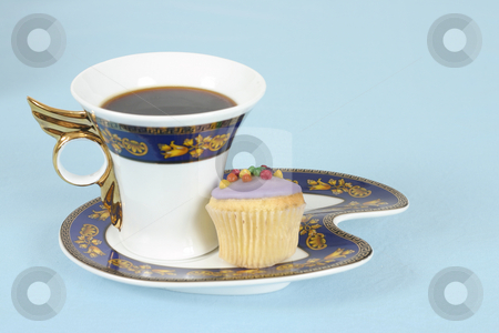 Time Out stock photo, Relax with a coffee or tea and cake by Leah-Anne Thompson