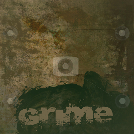 Grunge Background with Grime Text stock photo, Grunge brown dirty looking background with brown stains and green grime text and copy space by Keith Wilson