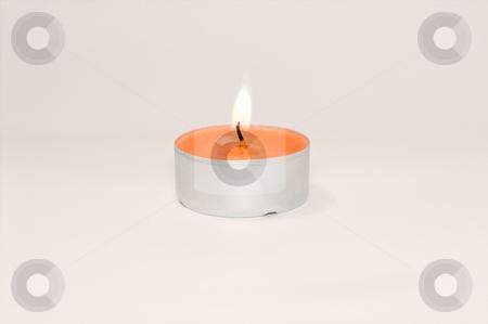 Burning candle  stock photo, Burning candle on isolated background by Pavel Filippov