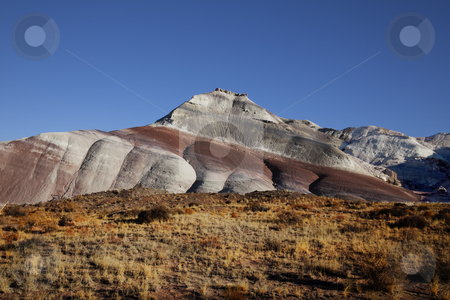 Capitol Reef National Park stock photo, View of the red rock formations in Capitol Reef  National Park with blue sky???s by Mark Smith