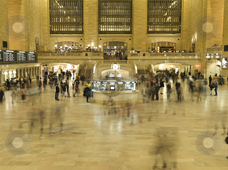 Big station stock photo, People finding their way through the Gran Central Station in NYC. by Ignacio Gonzalez Prado