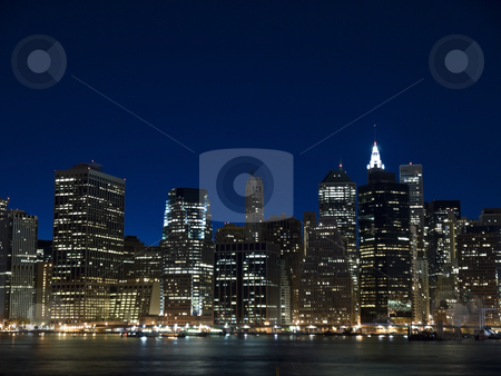 New York view stock photo, The New York skyline at twilight. View from Staten Island. by Ignacio Gonzalez Prado